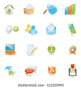 Glossy 3 D web icons set