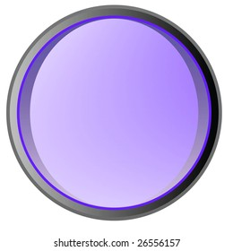 Glossy button in a vector format with clean lines