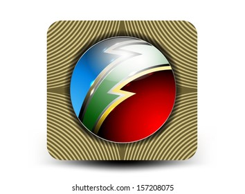Glossy circular shape abstract business background