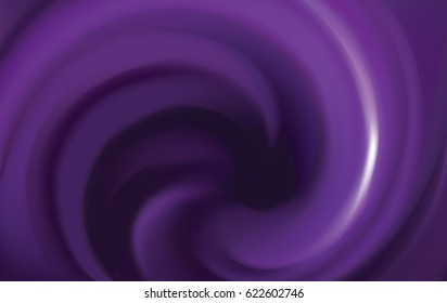 Glossy curvy fond with space for text in dark center. Fluid surface. Appetizing jelly of juicy berries lavender color: dewberry, whortleberry, plum