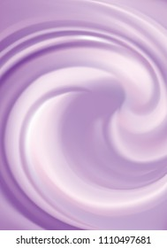 Glossy curvy foundation rose mauve paint water fond with space for text in light center. Gentle magenta cycle sweet milk berry yogurt candy. Appetizing juicy jelly tender lavender color
