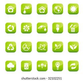Glossy Environmental Icons, high quality