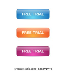 Glossy Free Trial Buttons