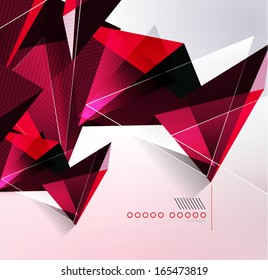 Glossy glass geometric shape background