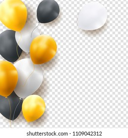 Glossy Happy Birthday Balloons Background Vector Illustration eps10