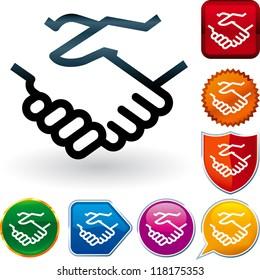 glossy icon series: handshake
