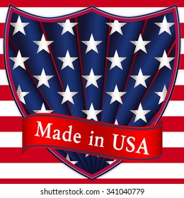 Glossy label Made in USA.