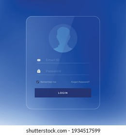 glossy login page template design