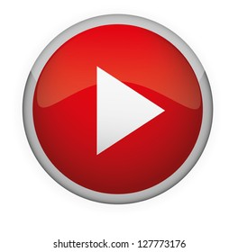 Glossy media button,Play . Vector