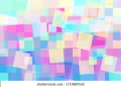 Glossy mosaic vector background. Color squares overlay abstraction. Trendy abstract design for cover. Modern technology wallpaper. Colorful banner template. Color block ornament. Digital texture