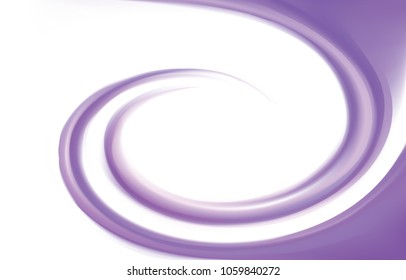 Glossy radial rippled curvy fond with space for text on white border. Gel fluid indigo creme caramel surface. Appetizing yogurt of juicy fruits light lavender color: grape, currant, mulberry, bilberry