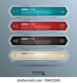 Glossy Rounded Lozenge Infographics