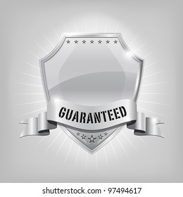 Glossy security silver shield - GUARANTEED