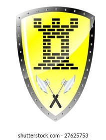 glossy shield vector
