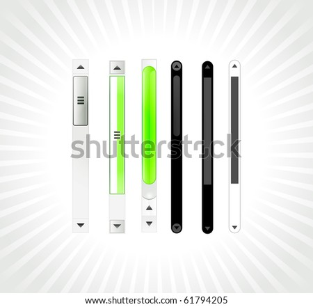 Glossy Shiny Abstract Scroll Bars Different Stock Vector Royalty