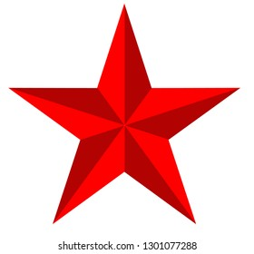 glossy star icon on white background. flat style. red colors star icon for your web site design, logo, app, UI. shiny star symbol. star sign.