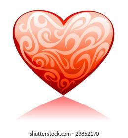 glossy valentine heart