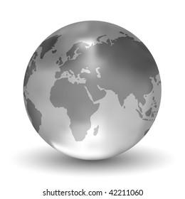 Glossy Vector Crystal Earth Globe