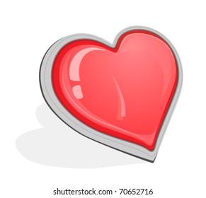 Glossy Vector Heart