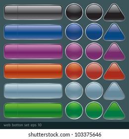Glossy Web Botton set1