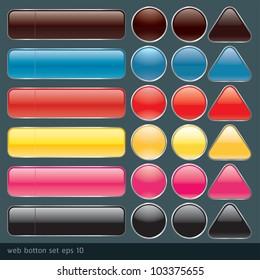 Glossy Web Botton set2
