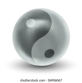 Glossy Yin Yang Sphere (Vector)