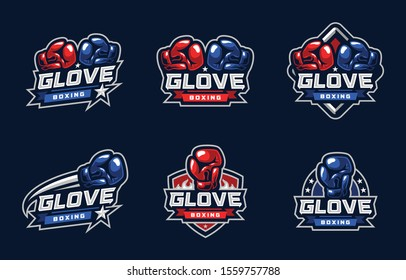 Glove Boxing Sport Logo Design