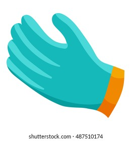 Glove icon in cartoon style isolated on white background vector illustration