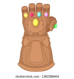 Glove of Thanos superhero on a white background.