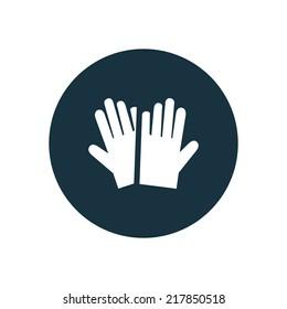 gloves circle background icon, isolated on white background