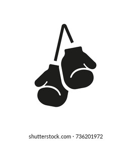 Gloves as combat sports equipment icon
