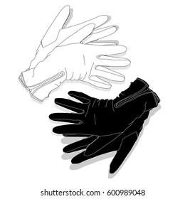 gloves set fashion image isolated