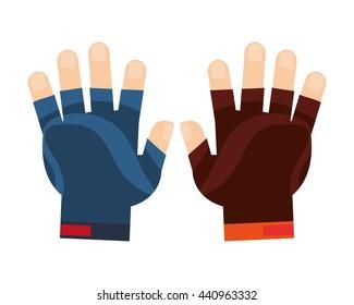 gloves sports icon design