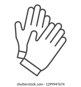 Gloves thin line icon. Garden glove vector illustration isolated on white. Work clothing outline style design, designed for web and app. Eps 10