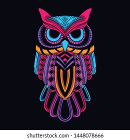 glow in the dark decorative owl from neon color