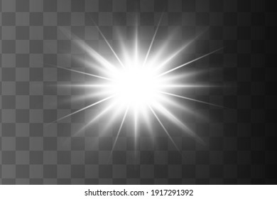 Glow isolated white light effect, lens flare
