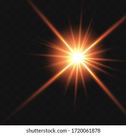 Glow isolated white transparent light effect set, lens flare, explosion, glitter, line, sun flash, spark and stars. Abstract special effect element design. Shine ray with lighting, sparkling round