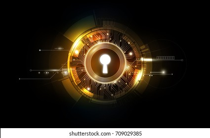 Glow keyhole abstract futuristic technology background with light and shiny, key of success solution, business concept, vector illustration