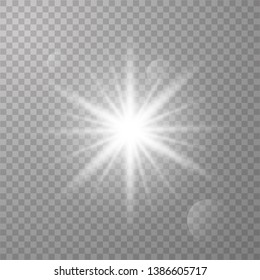 Glow light effect. Star burst with sparkles. Vector illustration eps 10.