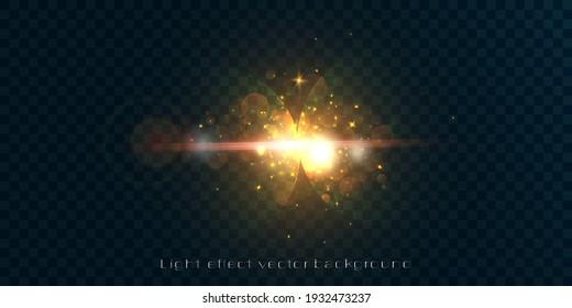 Glow light effect. Vector 10 eps