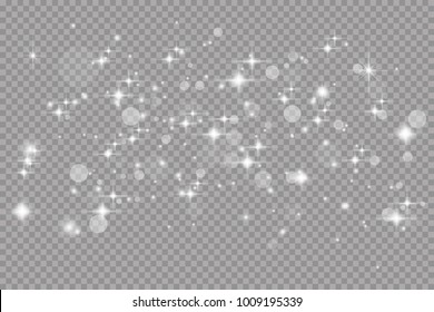 Glow light effect. Vector illustration. Christmas flash.Star dust. Decoration for advertising.