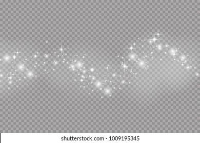 Glow light effect. Vector illustration. Christmas flash.Star dust. Decoration for advertising.