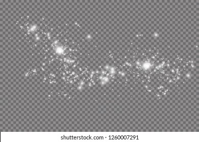Glow light effect. Vector illustration. Christmas flash. dust. Sparkling magical dust particles