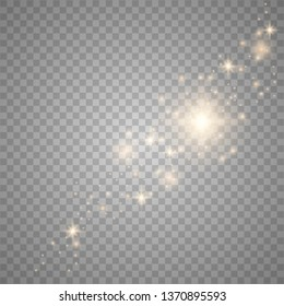 Glow light effect. Vector illustration. Christmas flash, dust. Vector illustration eps10.