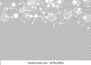 Glow light effect. Vector illustration. Christmas flash.Star dust. Decoration for advertising