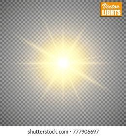 Glow light effect. Vector illustration. Christmas flash Concept. eps 10