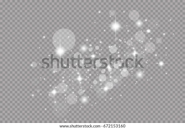 Glow light effect. Vector illustration. Christmas flash. dust. Glow light effect. Star burst with sparkles.