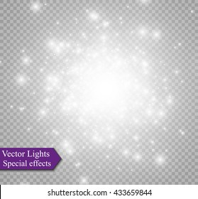 Glow light effect. Vector illustration.Flash Concept.
