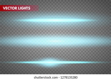 Glow special light effect, flare, star and spark Isolated. Vector lights