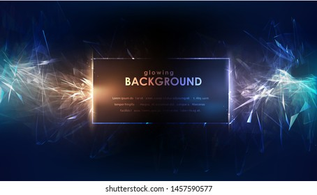 Glowing flickering lights. Night sparkle glowing background. Vector illustration.